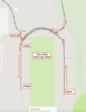 5km, 10 km start, finish, lap May 11.jpg