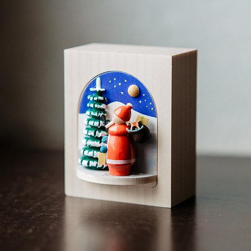 Drehkastl Weihnachtsmann