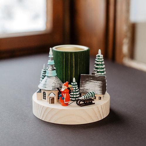 Teelichtleuchter Weihnachtsmann