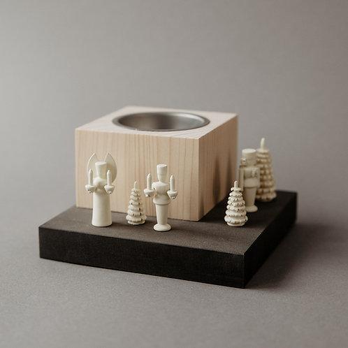 Leuchterstele mit Miniaturen klein