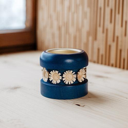 Blumenleuchter blau