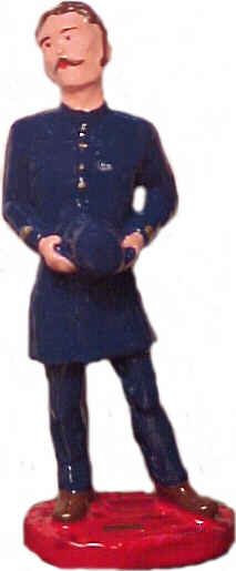 #4171 - Victorian Policeman Holding Helmet