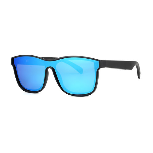 Smart Audio Glasses with Polarized Sunglass Lenses Bluetooth Connectivity-Blue