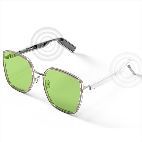 WGP Smart Audio Sunglasses - Aerate Fiber Board with Stainless Frame (1st Gen)