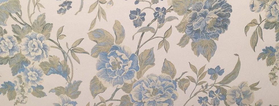 Light Blue, Cream & Light Green Floral