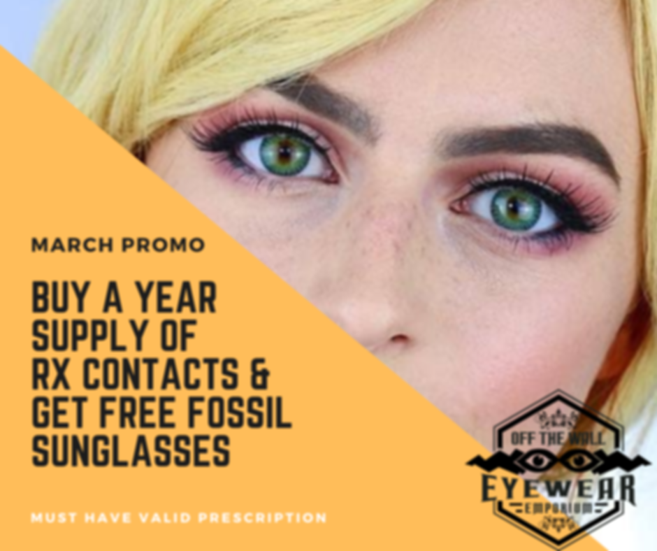 buy a year supply of contacts & get free