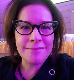 this is jen owner of off the wall eyes does all the marketing social media print does all the accounting and buying brands researches designers loves to travel visionary making owee a destination creative glasses loves to wear handmade glasses that are one of a kind