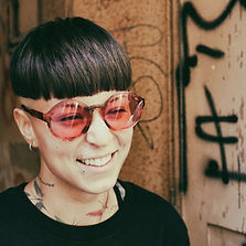 """She wears """"Precisa"""" Optical Collection 100% acetate Made in Italy eyewear made in italy sunglasses ruby rose circle glasses moncton off the wall eyewear shop not your ordinary glasses store not so commone glasses very outrageous quality made glasses"""