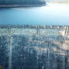 General photo. Drone photography Maroondah Dam in Healesville.
