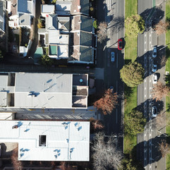 Drone photo, engineering inspection in East Melbourne.