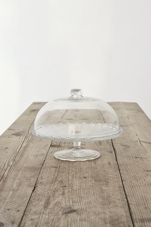 Alzata di vetro con coperchio per la piccola Sacher