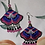 Thumbnail: Embroidered  Fabric Earrings