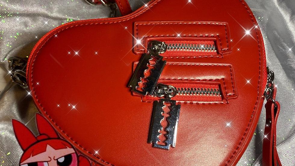 Blossom red Heart Shape purse