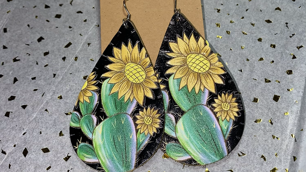 Cactus Sunflower Leather