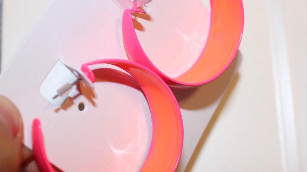 Pink neon hoops