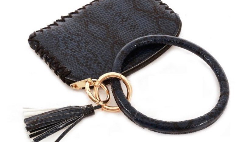Snakeskin coin and wallet