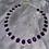 Thumbnail: Purple gem stone choker