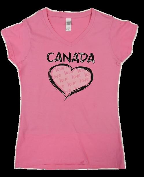 64V00L-Canada Love Heart