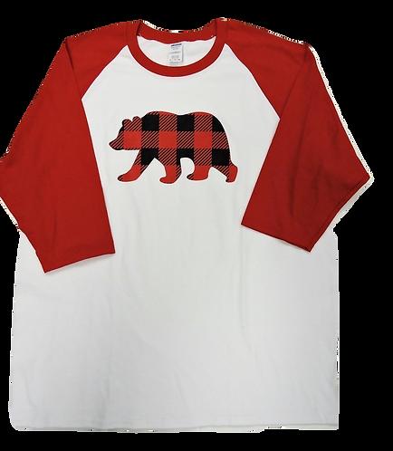 5700-Plaid Bear Red