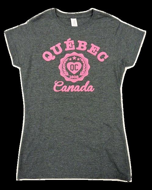5562-Quebec Heart Circle Hot Pink