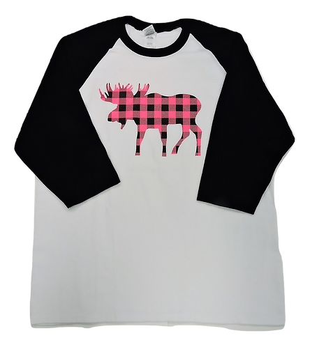 5700-Plaid Moose Hot Pink