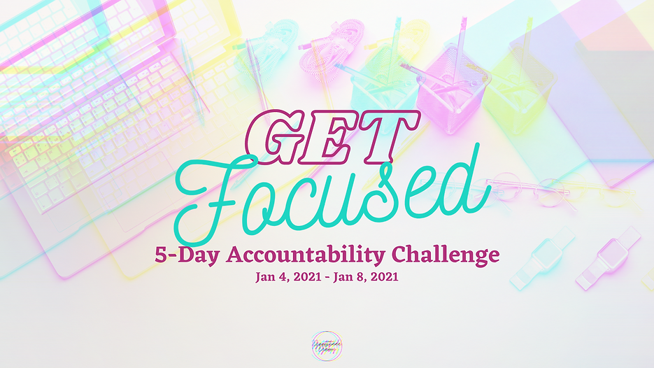 Get Focused - 5-Day Challenge {Planner}.
