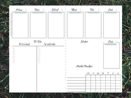 PERSONALIZED PLANNER TEMPLATES (PDF DOWNLOAD)