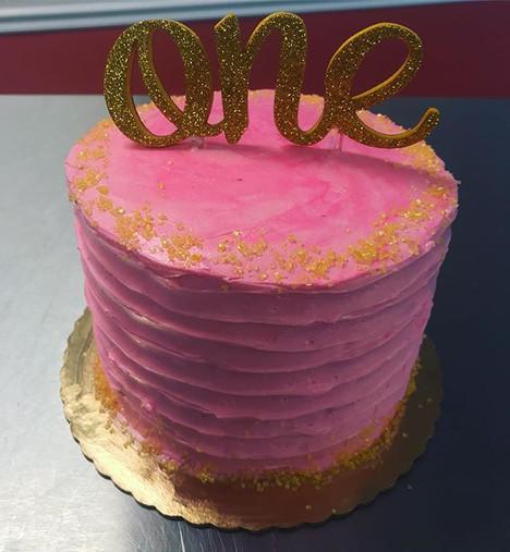 #firstbirthday #pink #glitter #smashcake.jpg
