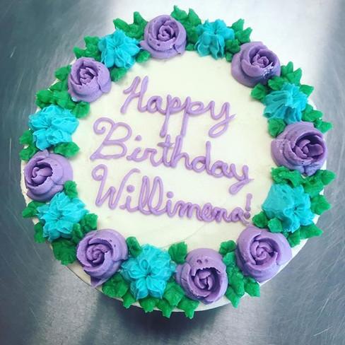 #springhassprung #purple #blue #flowers #birthdaycake.jpg