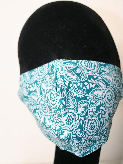 Masque turquoise imprimé 824081713