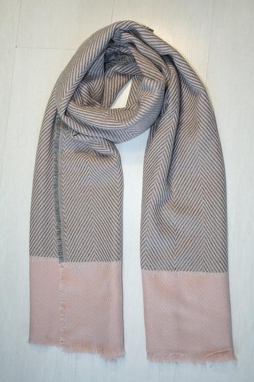 Echarpe épaisse doux rose-gris clair