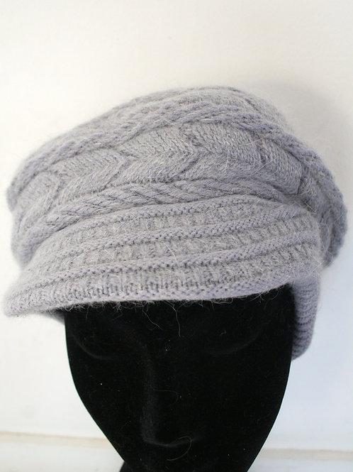 casquette en angora mix, gris clair