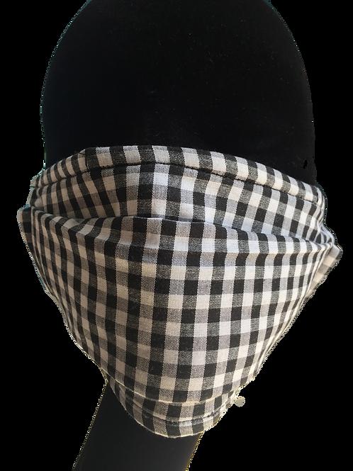 Masque à carreaux noir/blanc 820081101