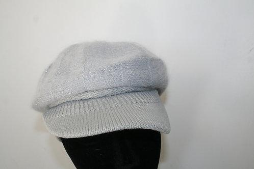 Casquette en maille en angora gris clair