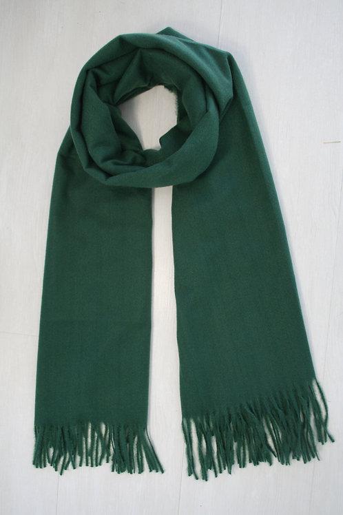 Echarpe unie, vert emeraude