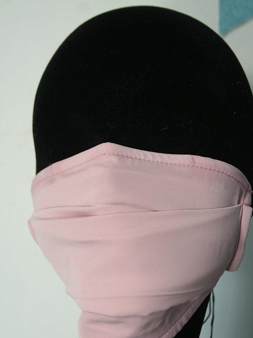 Masque double couche uni rose clair 821081116