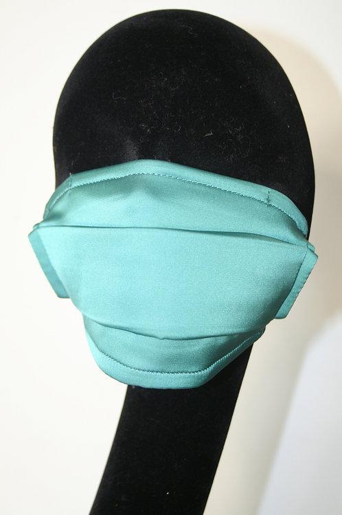 Masque double couche uni bleu canard 821081113