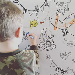 Avec ces magnifique affiche géante de coloriage imaginaire de l' #AtelierRueTabaga, les petits et gr