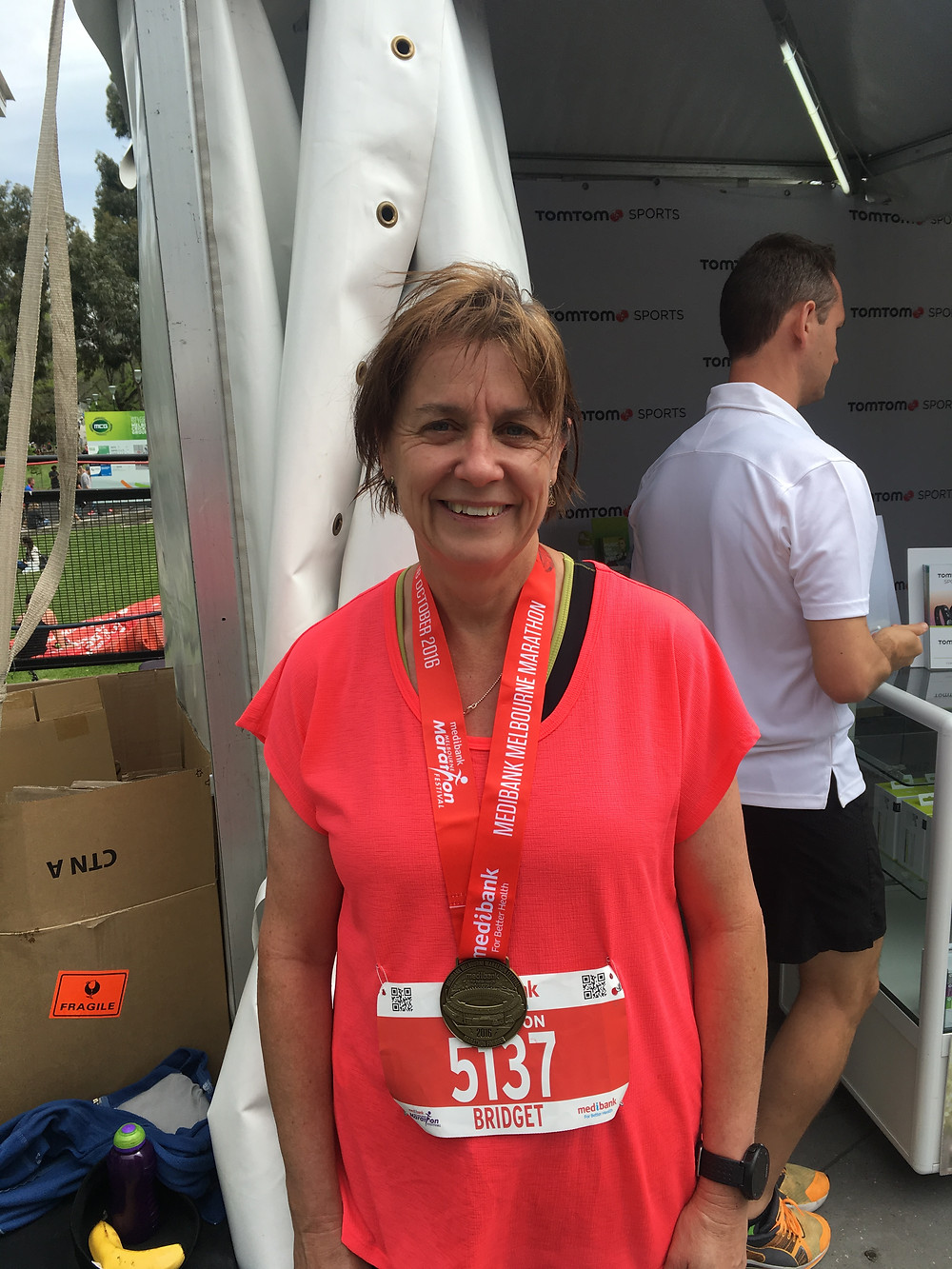 All smiles after a massive marathon personal best