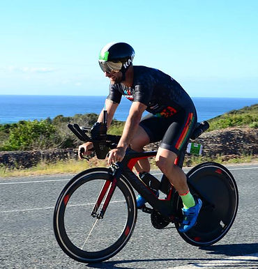 Triathlon coach Brad Martens showing how it is done