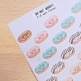 Donut Journaling Sticker Sheet