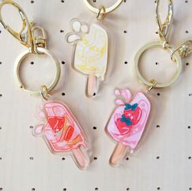 Juicy Summer Acrylic Keychain Charms
