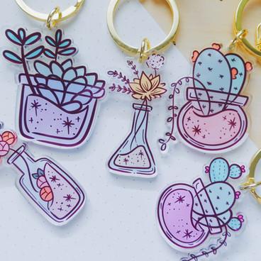 Plants Keychain Charm