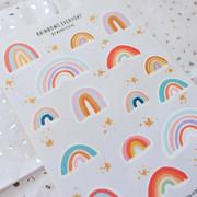 Rainbow Journaling Sticker Sheet
