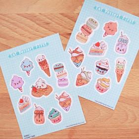 Eat Dessert First Journaling Sticker Sheet