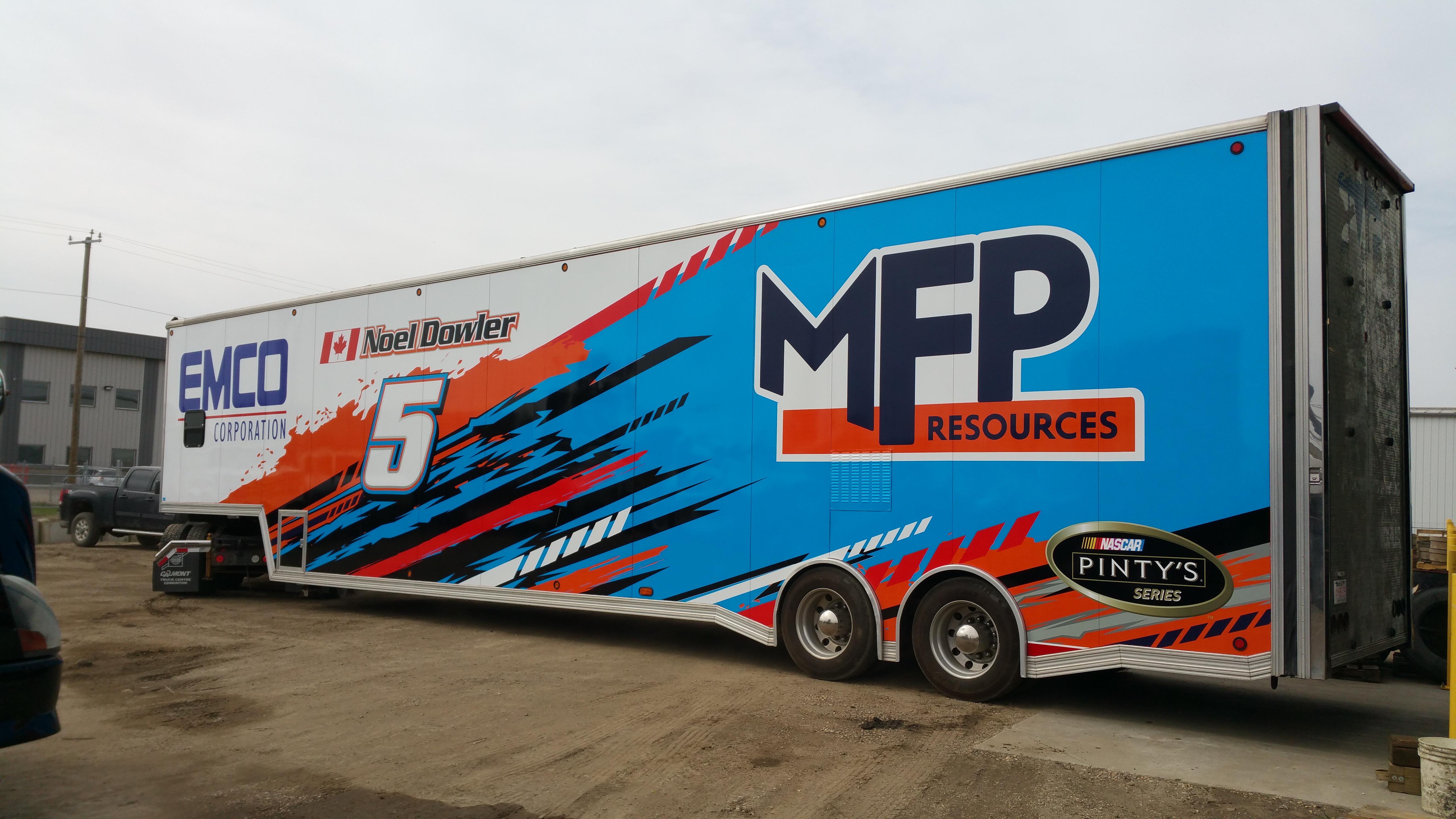 NASCAR #5 trailer wrap