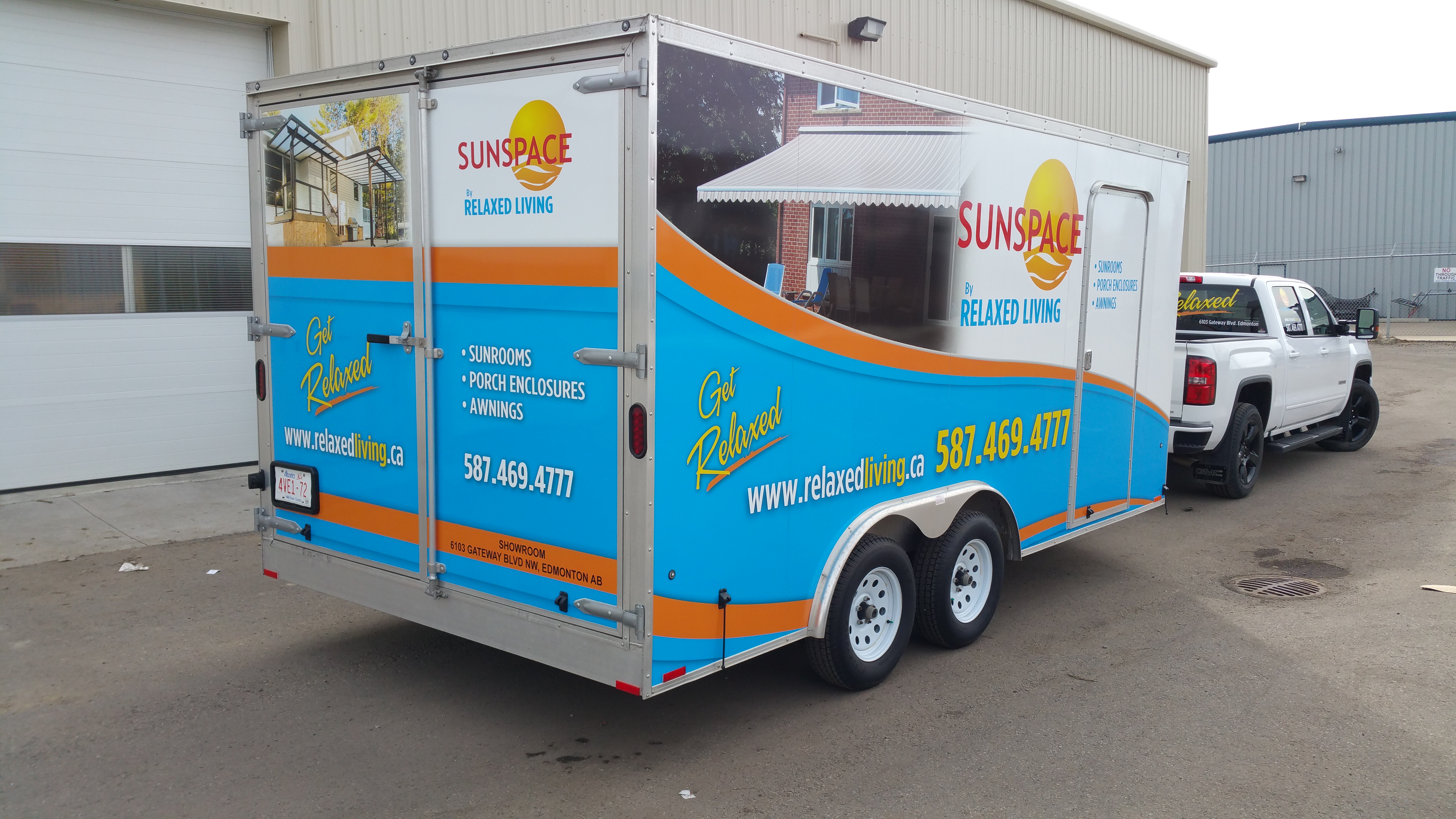 Sunspace trailer wrap