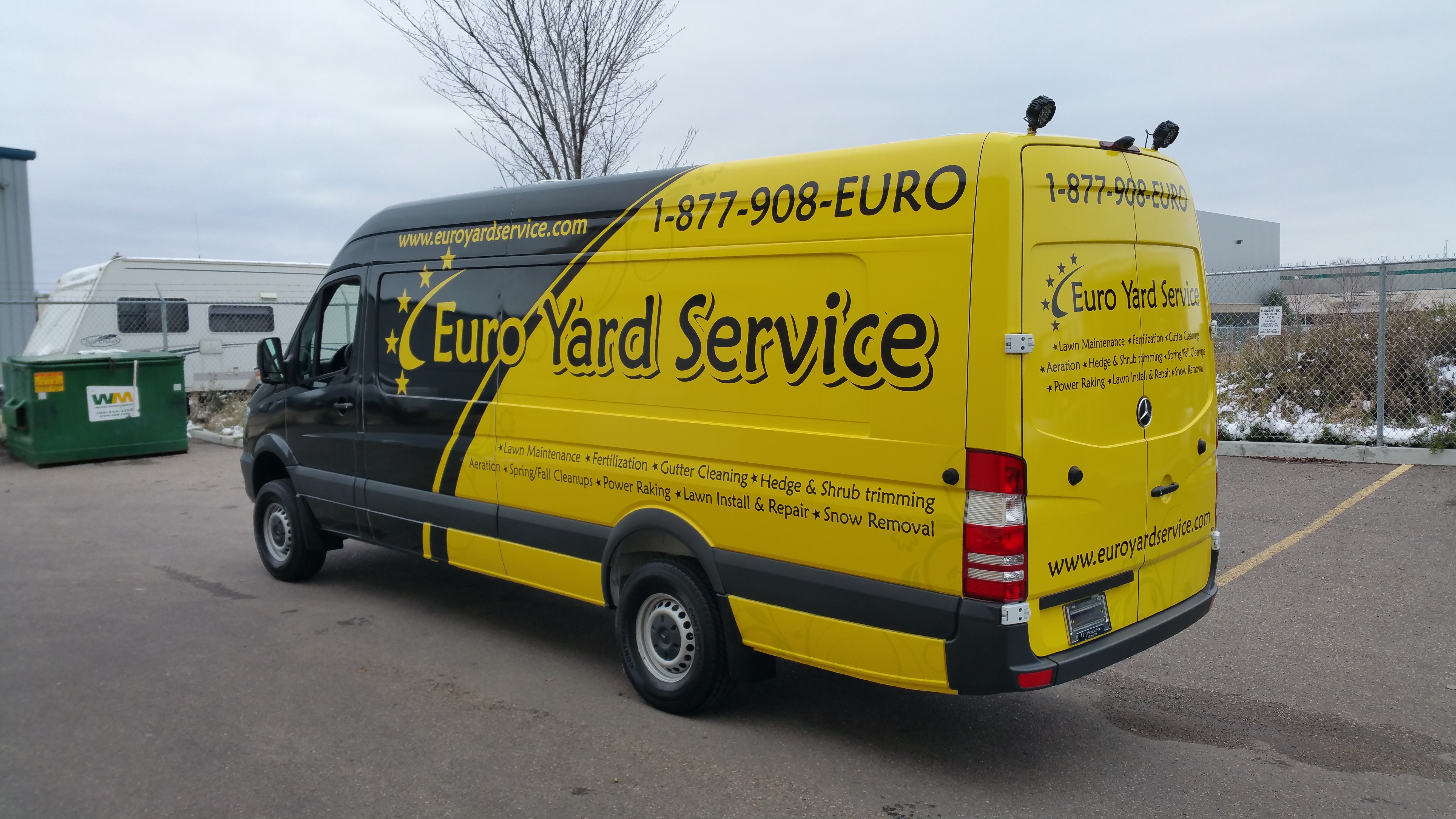 Euro Yard Service sprinter wrap