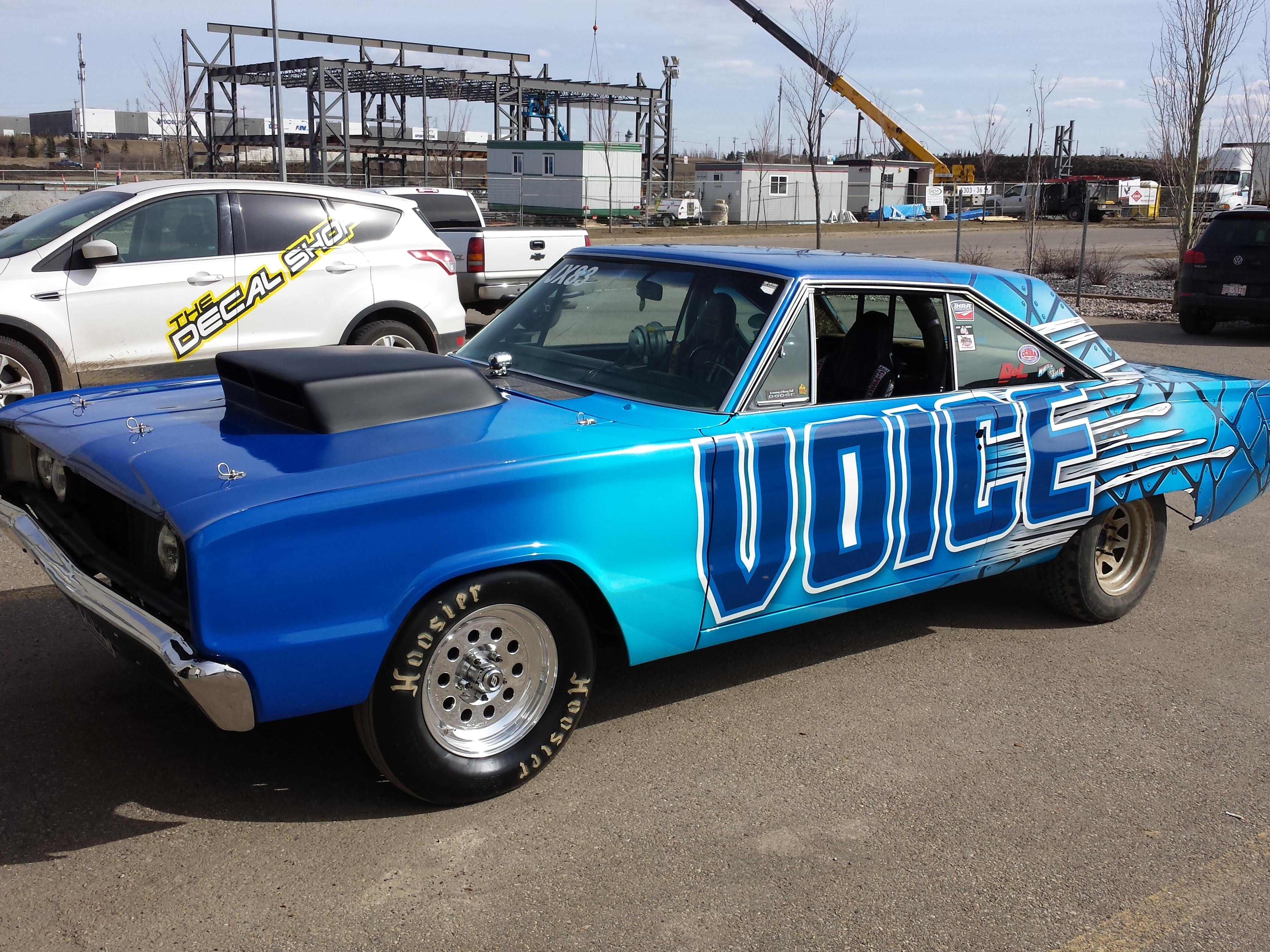 Voice race car wrap
