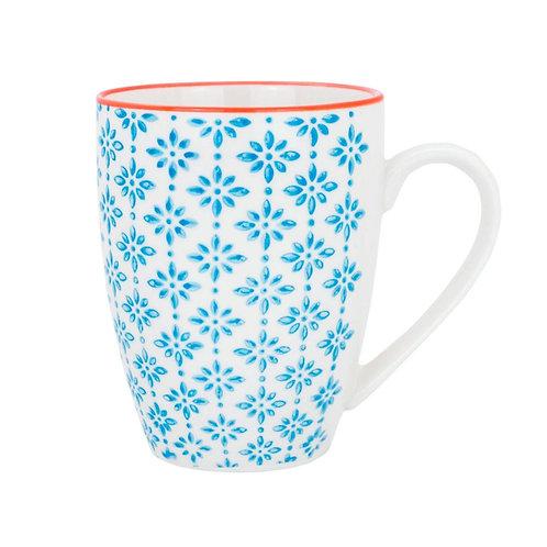 Patterned Mug - Blue and Orange